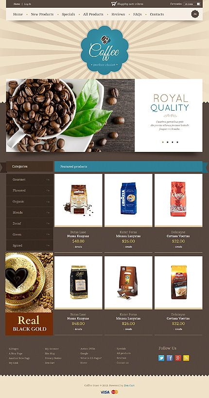 38 best Cafe and Restaurant Website Templates images on Pinterest ...