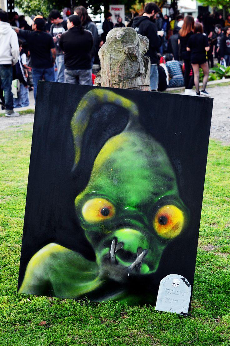Cuadro de Abe (Oddworld) para la Trick or Monster (La Plata - Argentina)