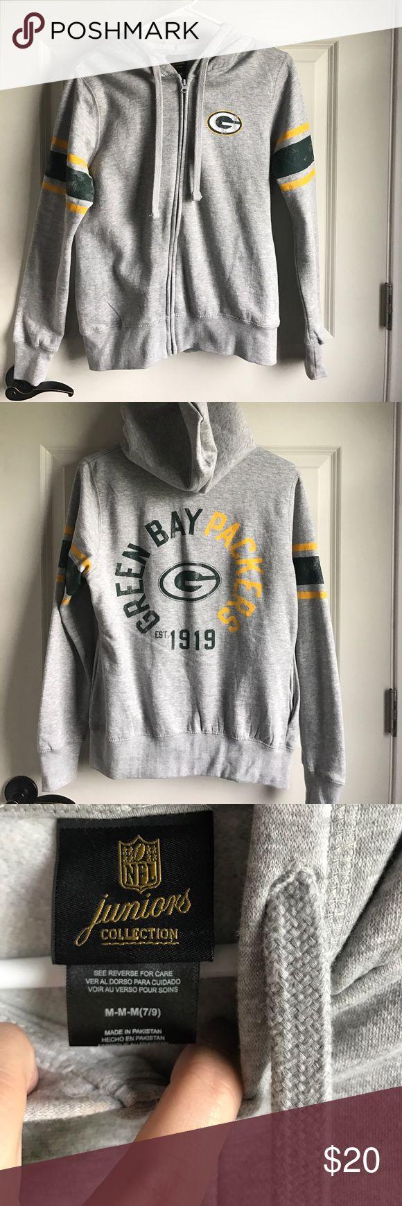 NFL juniors packer zip up Size medium NFL juniors zip up hoodie nfl Tops Sweatshirts & Hoodies