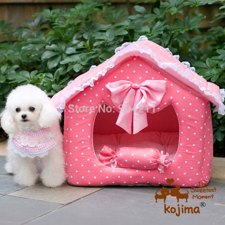 2016 HOT Japan Kojima princess kennel Pet dog bed cat litter pad nest house pink house free shipping gifts