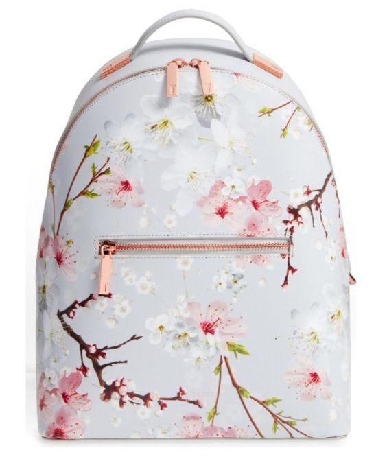 Flower Print Leather Backpack TED BAKER LONDON