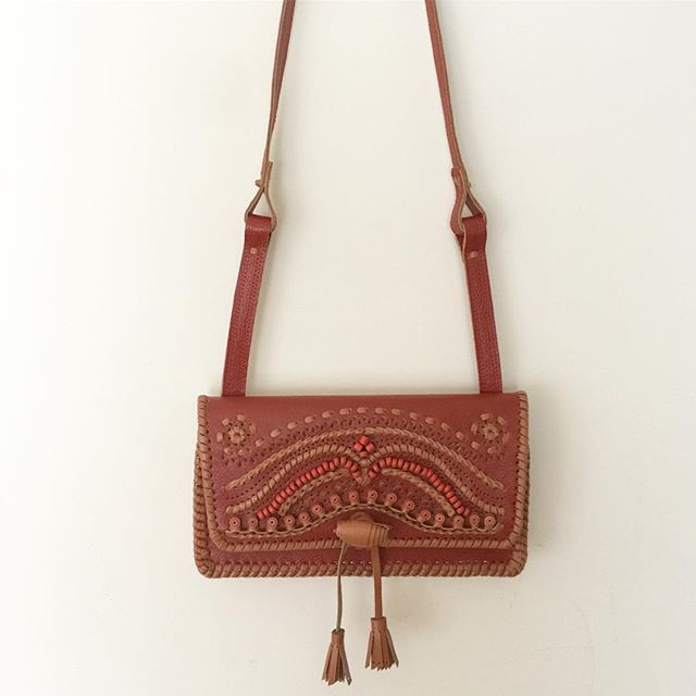 Red-brown leather crossbody bag from Ukraine!