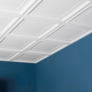 Icon Coffer White Ceiling Tile