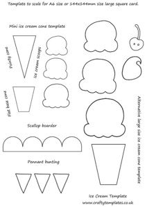 FREE Felt Ice Cream Pattern / Template