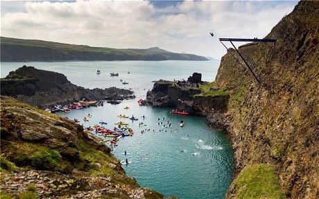 Cliff-diving contest to return to Blue Lagoon, Abereiddy, Wales - Telegraph