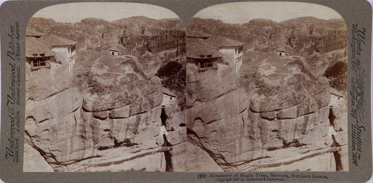 File:Underwood & Underwood - The Monastery of The Holy Trinity at Meteora. Underwood & Underwood (Details of artist on Google Art Project)