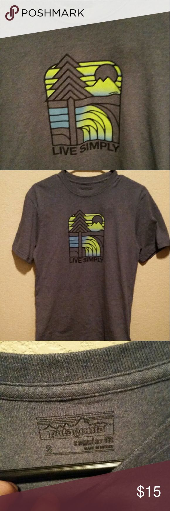 Patagonia live simply shirt Patagonia live simply shirt size small in great condition worn 2 times. Regular fit mens Patagonia Shirts Tees - Short Sleeve