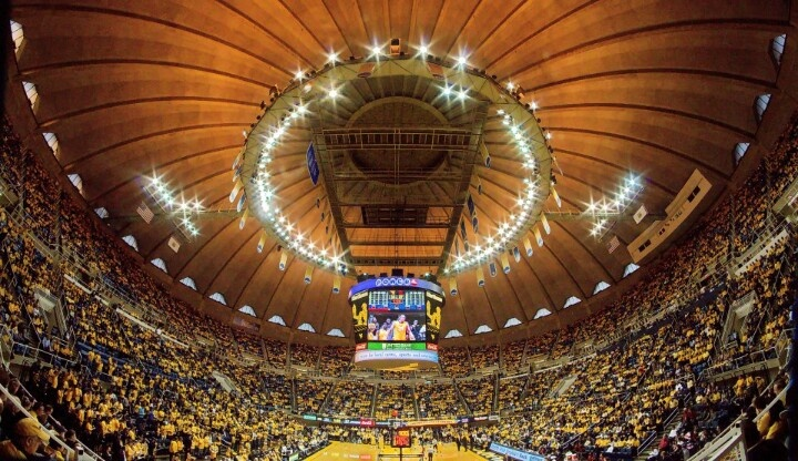 Go to a WVU basketball game, their arena looks absolutely AMAZING