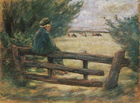 Max Liebermann Paintings   boy with cows a n max liebermann paintings
