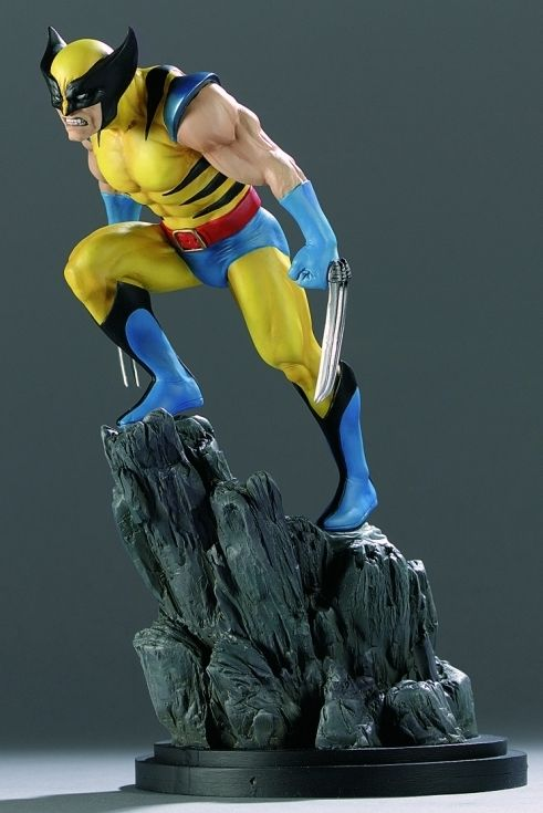 Wolverine Yellow statue Sculpted by: Mark Newman  Release Date: February 2001 Edition Size: 4000 Order Of Release: Phase I (statue #17)