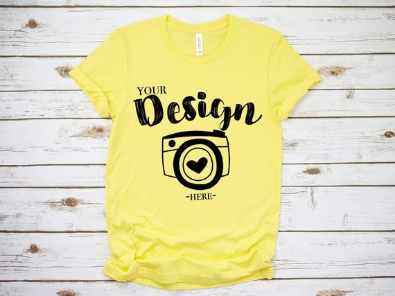 Download Free Bella Canvas 3001 Yellow Unisex T Shirt Mock Up T Shirt Psd Free Psd Mockups Templates Mockup Free Psd Psd Mockup Template