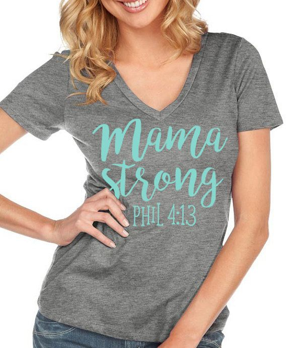 Mama Strong, Mom Shirt, Mom Life, Crossfit, Mom Strong, I Do All Things Through Christ, All Good Threads, Christian Shirts, Faith Shirts