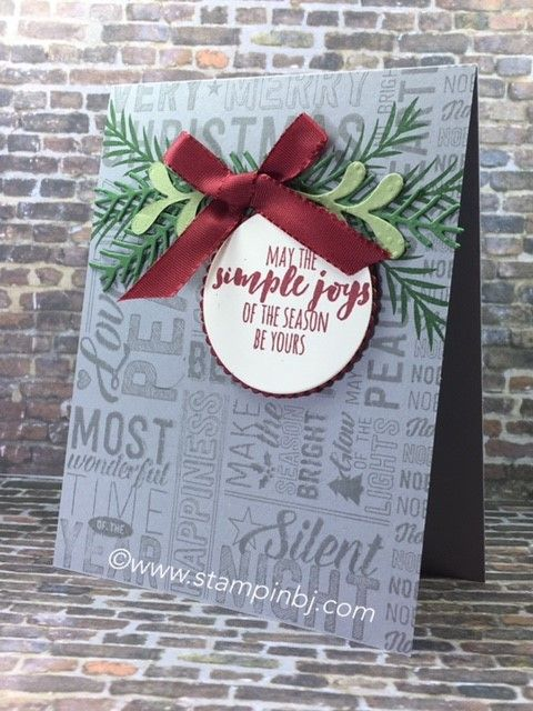 Merry Medley stamp set gives you a ton of options and it's on sale!  #stampinbj.com