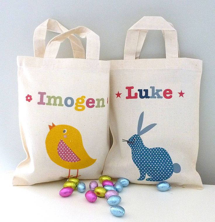 Best 25 diy easter bags ideas on pinterest easter stuff easter childs personalised easter egg hunt bag negle Image collections
