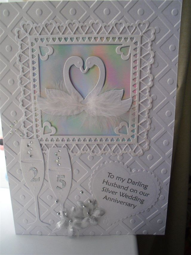 Card Making Ideas Silver Wedding Part - 20: Silver Wedding Card For My Hubby | Docrafts.com