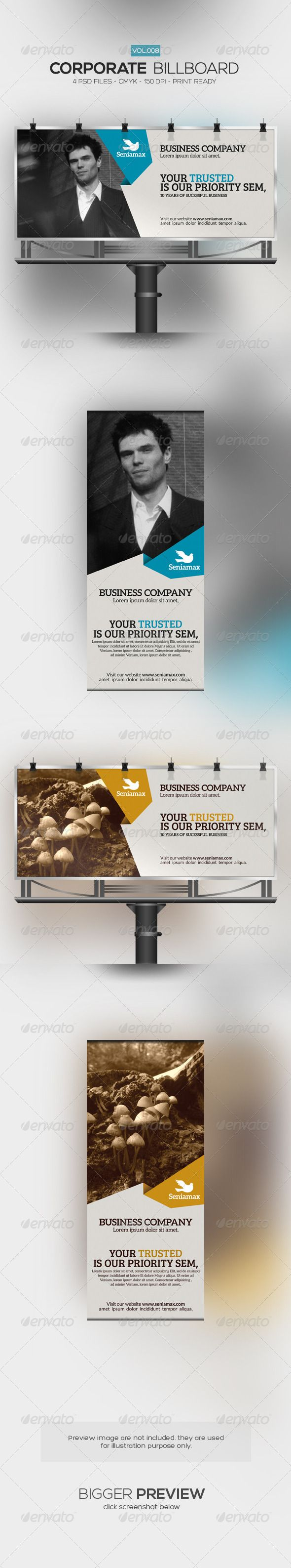 Corporate Billboard Template #design #ads Download: http://graphicriver.net/item/corporate-billboard-008/7396309?ref=ksioks