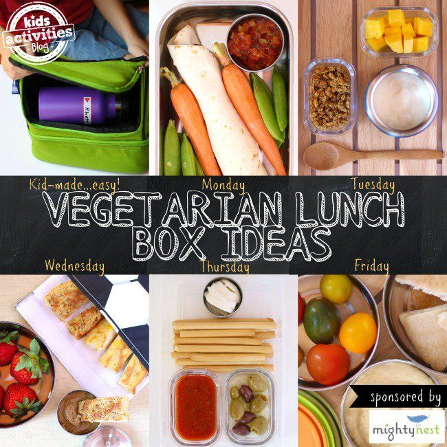 Week of Vegetarian Lunch Box Ideas Kids Can Make