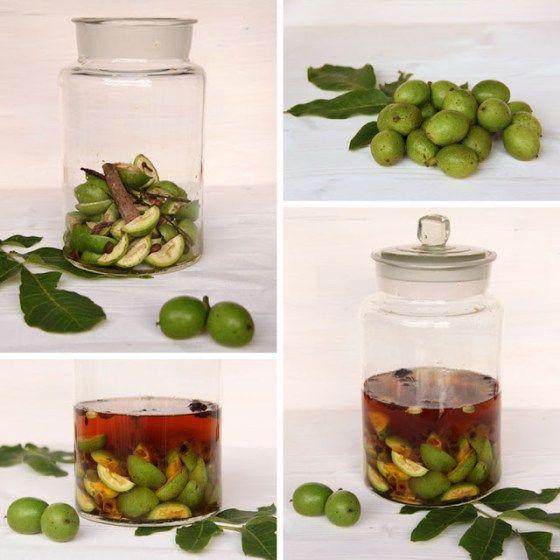 Walnuss Gewürz Likör aus grünen Nüssen - Nocino - Freude am Kochen