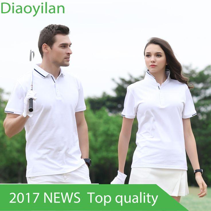 Golf Clothing Men's Golf Polo shirts Summer Breathable Elastic Golf Short Sleeved Uniforms Women Golf polo shirt Plus Size 4XL #Affiliate