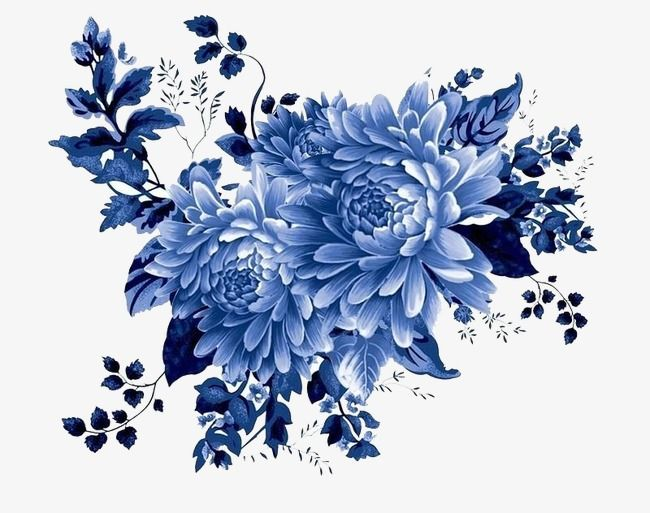 Millions Of Png Images Backgrounds And Vectors For Free Download Pngtree Blue Flower Wallpaper Flower Painting Flower Art