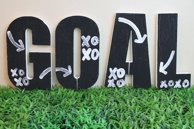 DIY Goal Sign