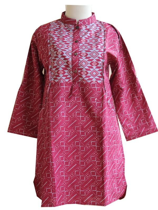 Blus batik tulis kombinasi Cap