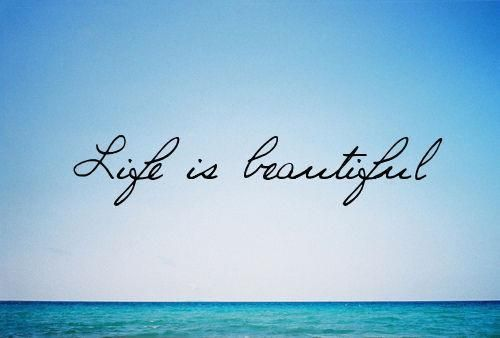 Life is beautiful, don't waste on bullshit.