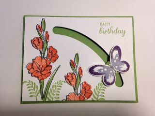 """Today I'm going to share with you a card I received in a swap last month. This is a """"Spinner""""card using the """"Sliding Star"""" Framelits and..."""