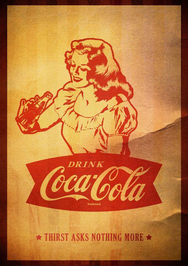 Digital Vintage Coca Cola Posters