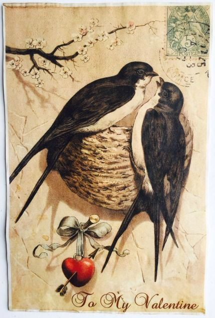 """To my Valentine 11"""" x 17"""" Vintage aged papers"""