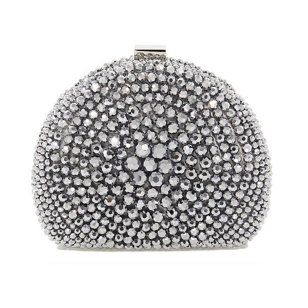 Chiara P. Clutch bags ($315) ❤ liked on Polyvore featuring bags, handbags, clutches, purses, silver purse, silver clutches and silver handbags