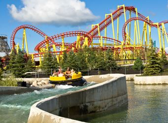 Michigan Adventure Park-Muskegon, Michigan. Another view of Amusement park by our vacation homes in Muskegon. www.muskegonvacationrentals.com