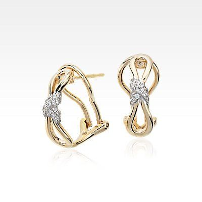 Colin Cowie Diamond Infinity Earrings in 14k Yellow Gold (1/10 ct. tw.)
