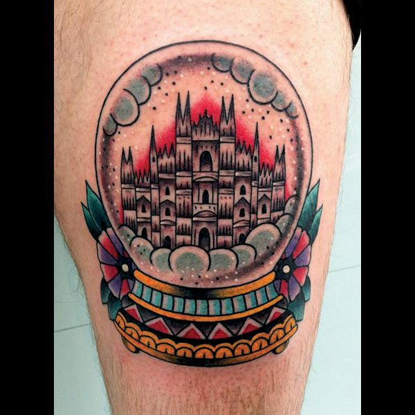 100 snow globe tattoos buildings and american traditional cabin snowglobe tattoo. Black Bedroom Furniture Sets. Home Design Ideas