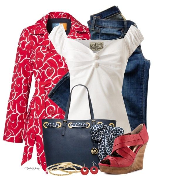 Spring Outfit: Cute Tops, Spring Trench, White Shirts, Fashionista Trends, Casual Outfits, Spring Outfits, Cute Jackets, White Tops, Red Leather