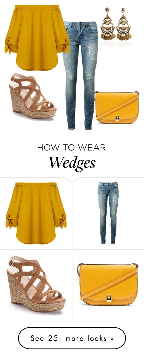 """""""Untitled #1481"""" by dora-caeiro on Polyvore featuring Yves Saint Laurent, TIBI, Jennifer Lopez and Topshop"""