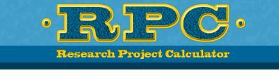 Research Project Calculator.  Learn the steps and schedule your research project.