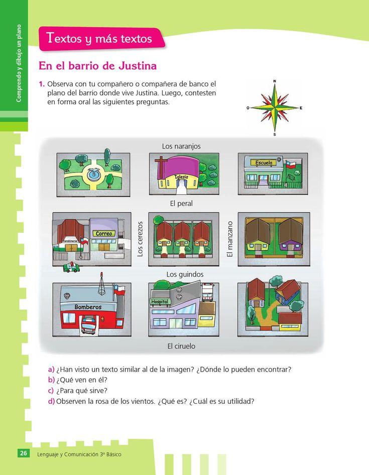 Libro de Lengua tercer grado primaria (básica). Libros chilenos de distribución gratuita.
