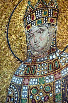 mosaique romaine: Empress Zoe, mosaïque byzantine dans la galerie de Sainte-Sophie à Istanbul, Turquie Editeur