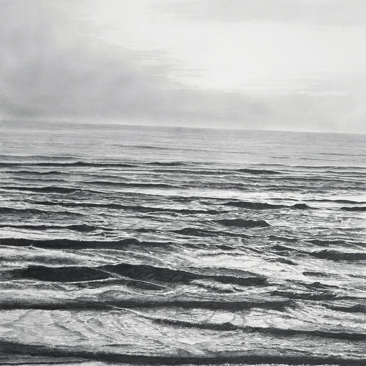 francisco faria - 'vague view #4', drawing, pencil on paper, 2007, 55x55cm. (vague landscape series)