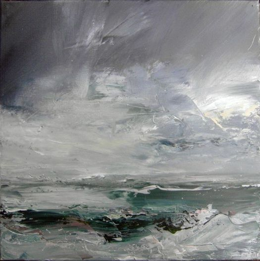 Janette Kerr, 'Porth Nanven', oil on canvas, 41 x 41cm: