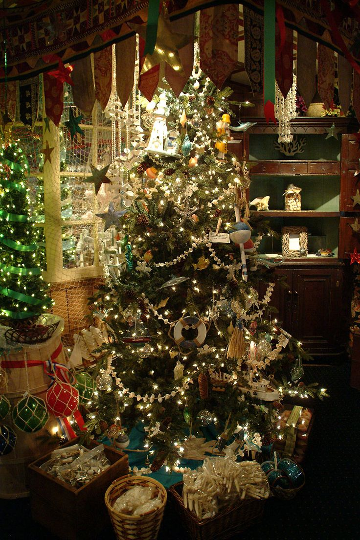The Christmas Shop Trees, Theme Ornaments And Holiday Lights In Manteo, NC.  Wonderful