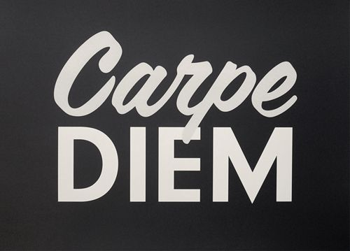 carpe diem...always a great thought