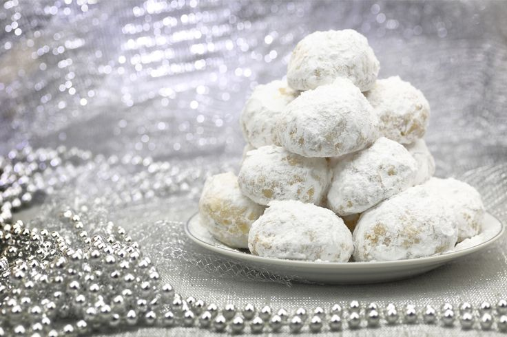 Kourabedies, or Greek Butter Cookies, are a staple dessert at all special occasions!