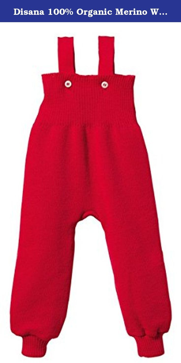 Disana 100% Organic Merino Wool Knitted Trausers/pants Made in Germany (12-24 months, Red). All-round comfort with Disana knitted trousers, complete with braces. When a child is lying down, crawling or taking her fi rst steps, our Disana knitted trousers with braces make sure she is thoroughly warm and comfortable. The waistband is especially high to keep her tummy and back warm, and two removable braces keep everything in place. These Disana knitted trousers are designed with plenty of...