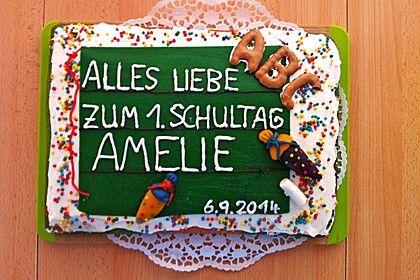 Tafel - Kuchen zur Einschulung / zum Schulanfang