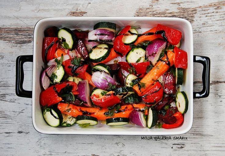 Warzywa pieczone z miodem