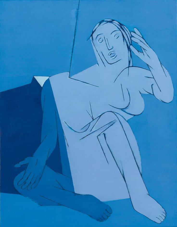Tyeb Mehta (1925 – 2009) Blue Painting, 1982