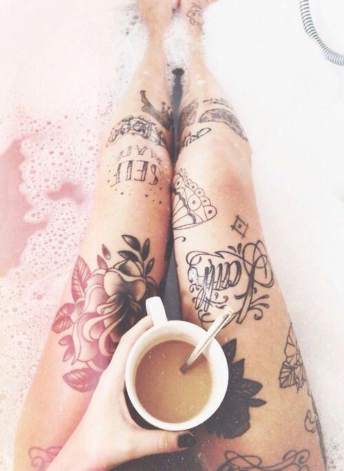 I want my legs to look like this! With a big octopus on one of my thighs.