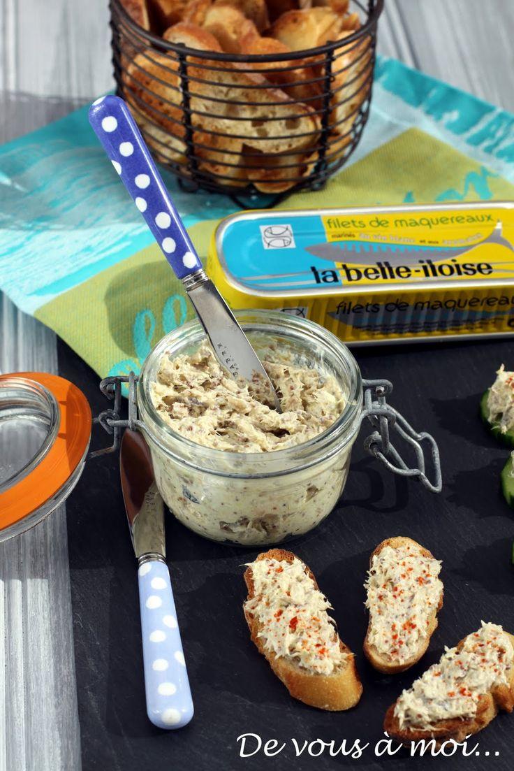 C'est à l'apéritif que nous allons nous intéresser aujourd'hui: je vous propose une recette de rillettes de maquereaux à la moutarde à l'a...